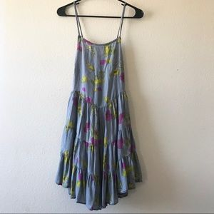 Free People Intimately Tie Back Floral Dress Sz S